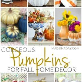 Gorgeous Pumpkin Crafts for Fall Home Decor 1
