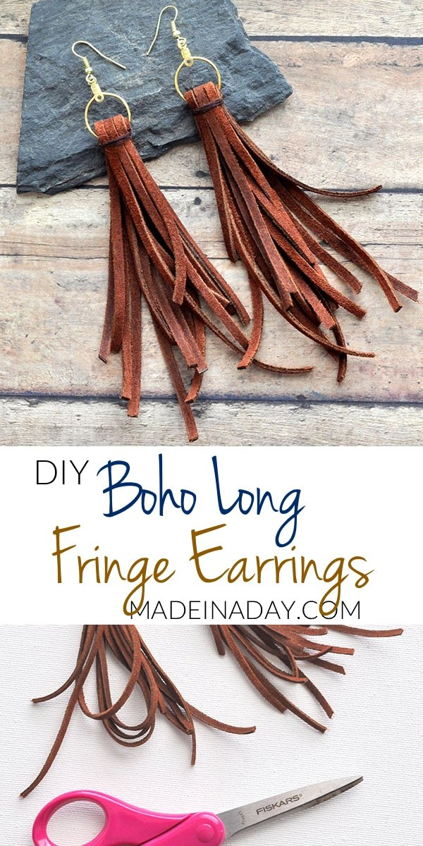 Long Dangle Suede Fringe Earrings, Boho fringe earrings, leather fringe earrings, long fringe earrings, Leather tassel earrings,