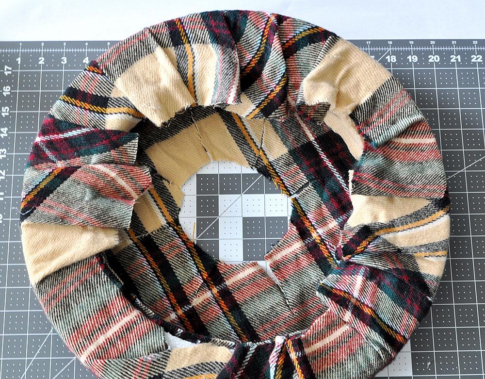 wrap fabric over a foam form