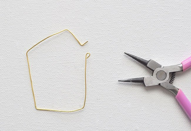 DIY Geometric Hoop Earrings 8