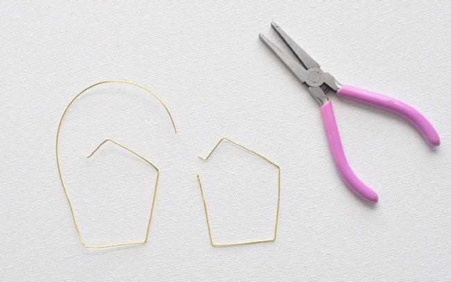 DIY Geometric Hoop Earrings 6
