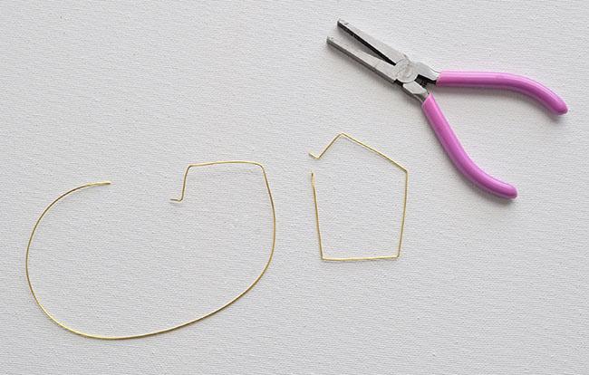 DIY Geometric Hoop Earrings 5