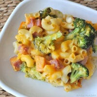 Broccoli Ham Macaroni and Cheese Casserole