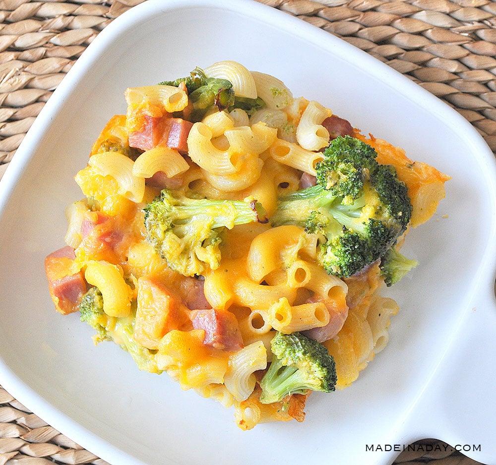 Broccoli Ham Macaroni and Cheese Casserole 30