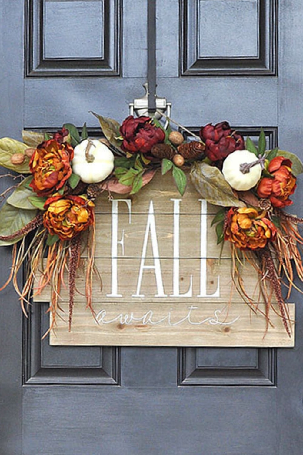 Stunning Fall Awaits Hand Painted Sign