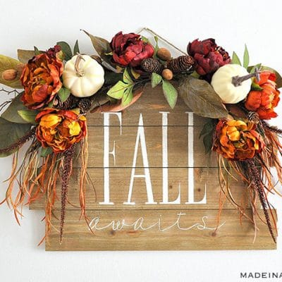 Fall Awaits Hand Painted Sign