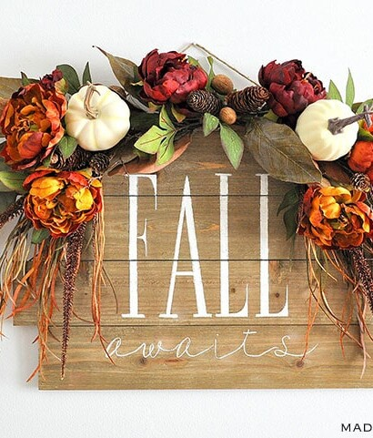 Stunning Fall Awaits Hand Painted Sign 8