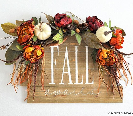 Stunning Fall Awaits Hand Painted Sign 38