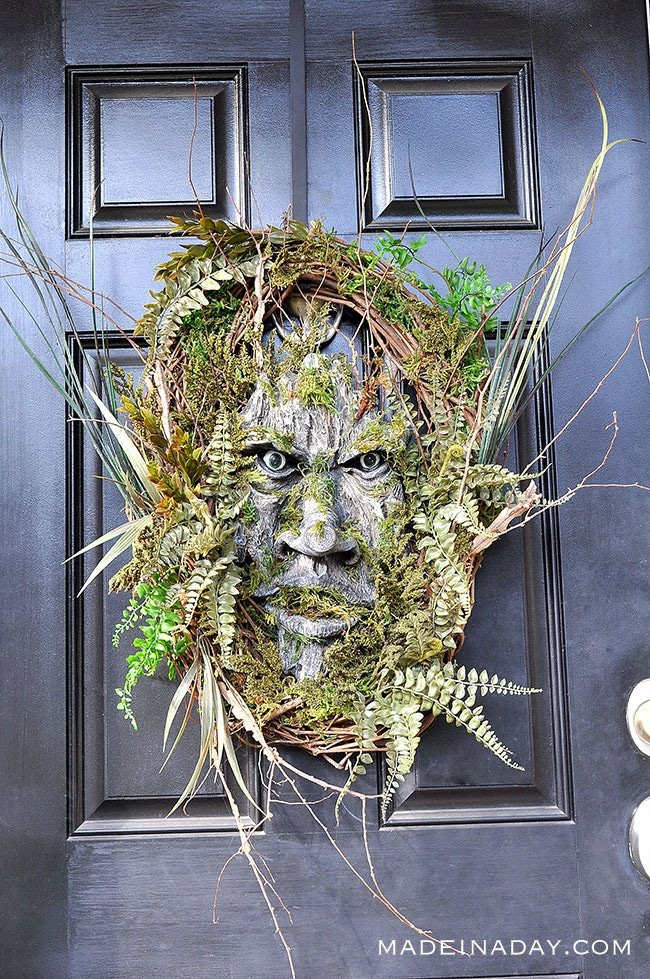 Woodland Green Man Wreath