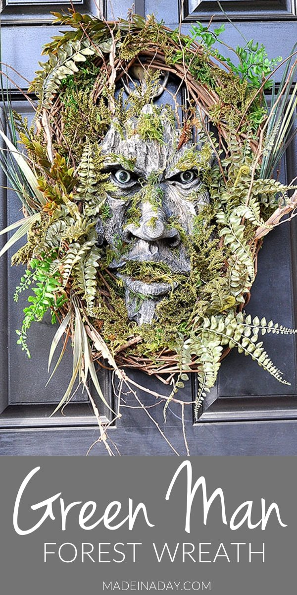 Make this simple but scary tree man to scare your neighbors this Halloween! Green Man, Tree Man, Woodland Tree Spirit, Forest Man, tree creature,