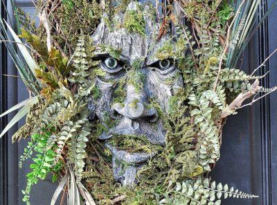 Exquisite Green Man Woodland Wreath