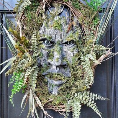 Green Man Woodland Wreath