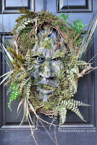 Green Man Woodland Wreath