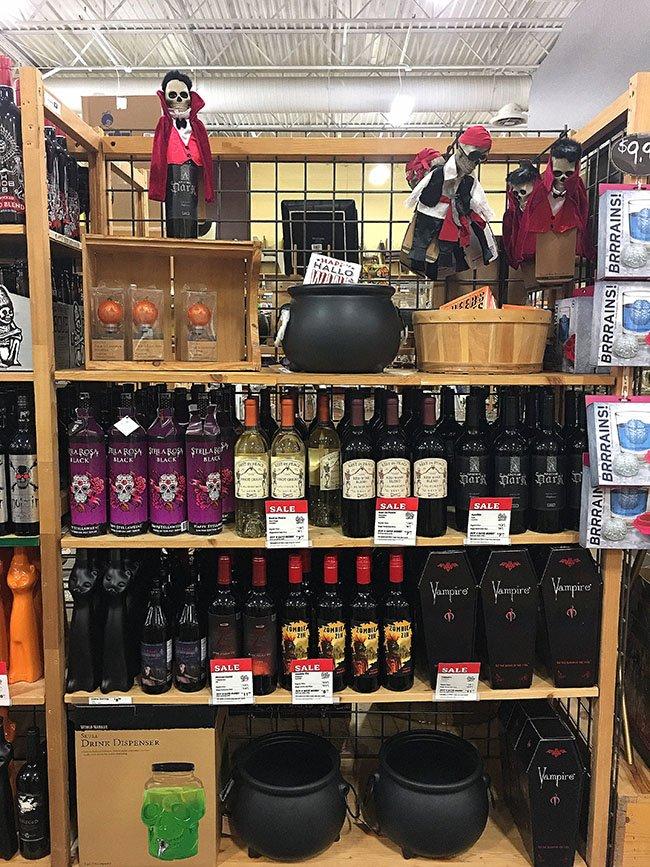 Wine aisle in World Market