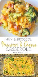 Broccoli Ham Macaroni and Cheese Casserole 1