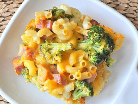 Broccoli Ham Macaroni And Cheese Casserole Made In A Day
