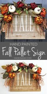 Stunning Fall Awaits Hand Painted Sign 1