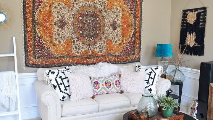 How to Mount a Tapestry for Wall Art 12