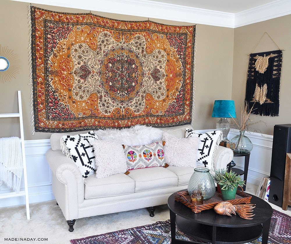 Rug Wall Art How To Hang A Rug Like A Tapestry Made In