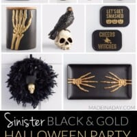 Terrify your Guests with a Sinister Black and Gold Halloween Party