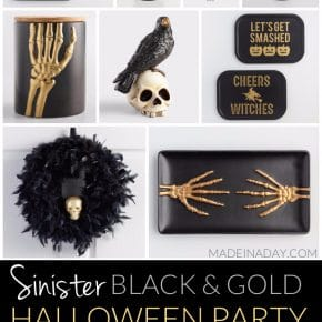 Treacherous Sinister Black and Gold Halloween Party 1