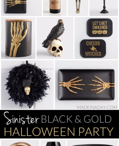 Treacherous Sinister Black and Gold Halloween Party 31