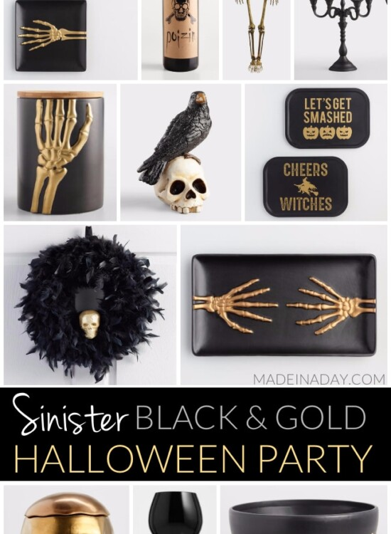 Treacherous Sinister Black and Gold Halloween Party 7