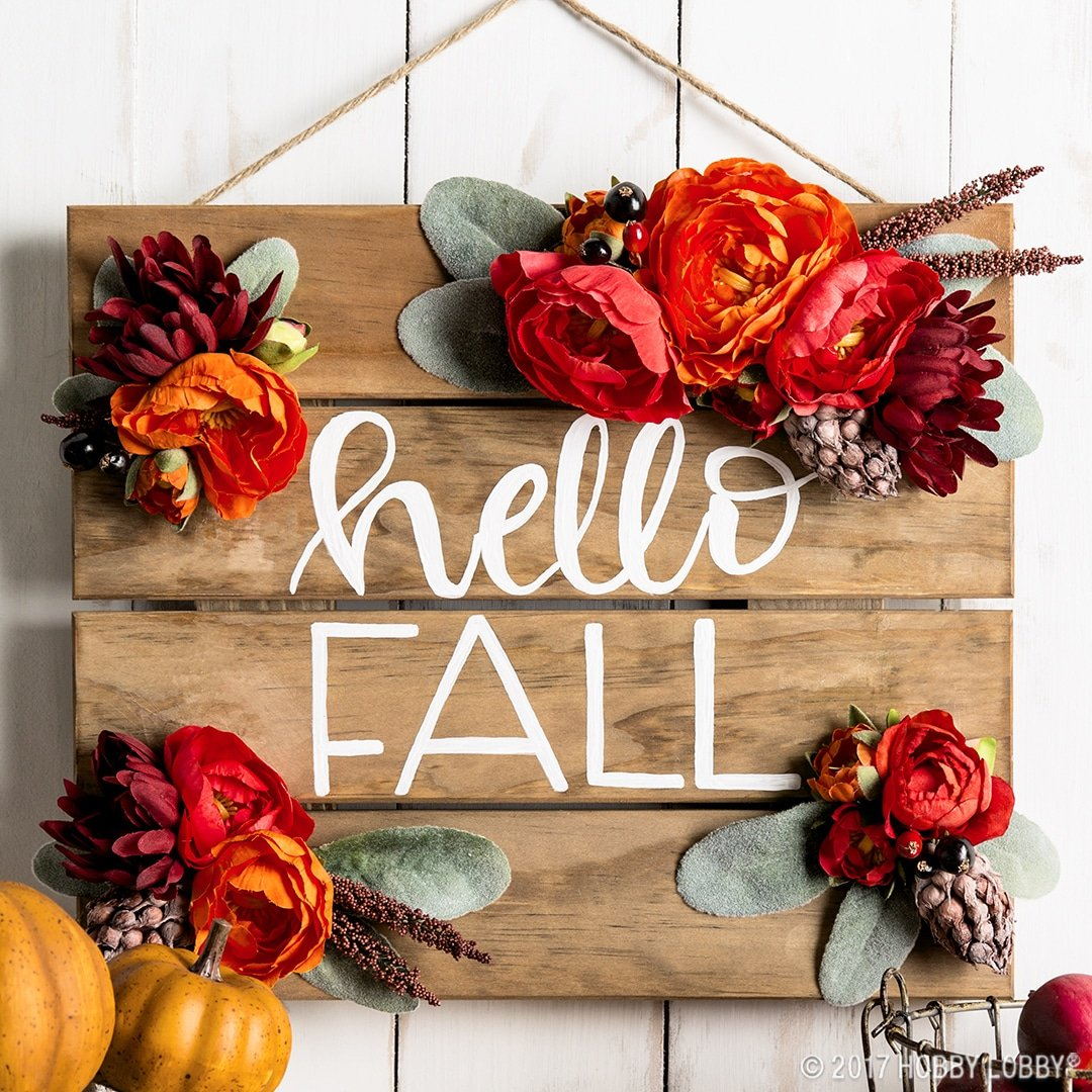Stunning Fall Awaits Hand Painted Sign 4