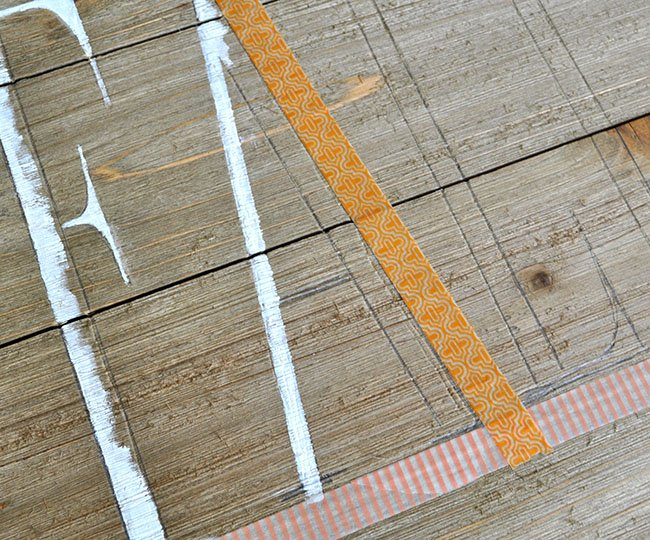 how to paint straight lines with washi tape