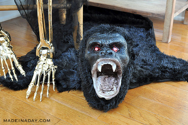 Halloween Gorilla Rug
