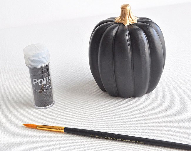 how to add bead glitter to pumpkins