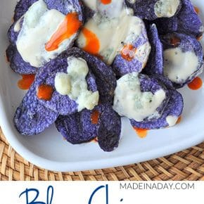 Blue Chips with Spicy Gorgonzola Cheese Sauce 1