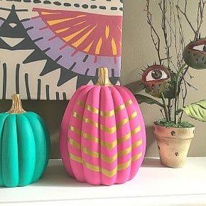 Boho Pink Gold Pumpkin