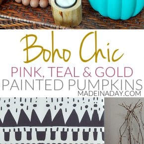 Colorful DIY Boho Chic Painted Pumpkins 31