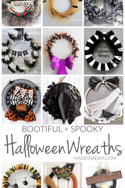 Bootiful Spooky DIY Halloween Wreaths
