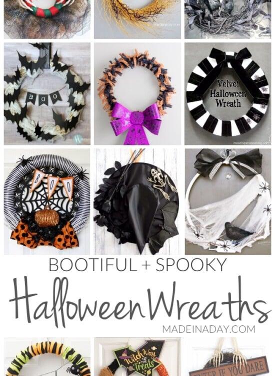 Bootiful Spooky DIY Halloween Wreaths 3