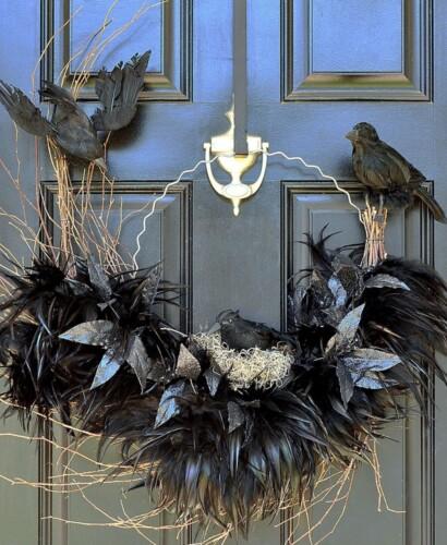 Tantalizing Ravens Nest Halloween Wreath 31