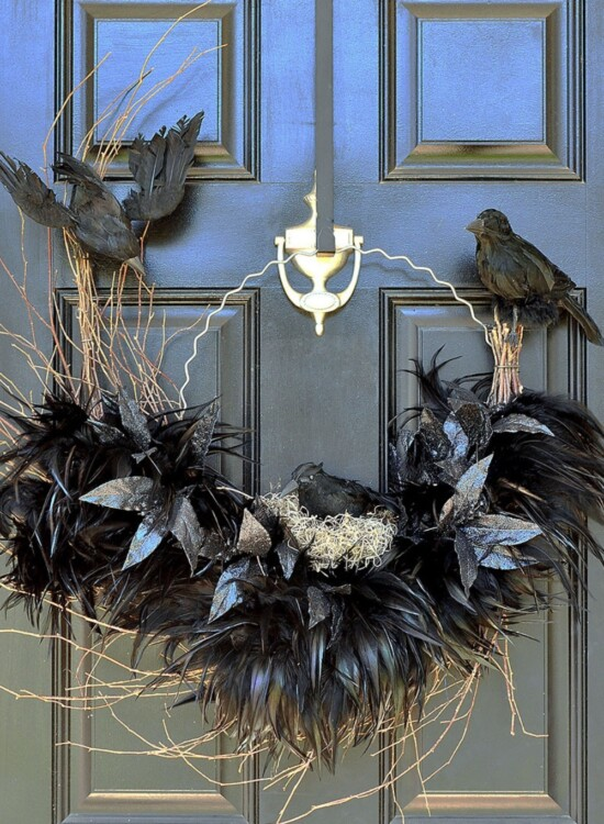 Tantalizing Ravens Nest Halloween Wreath 4
