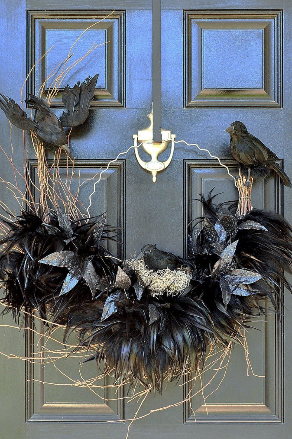 Tantalizing Ravens Nest Halloween Wreath
