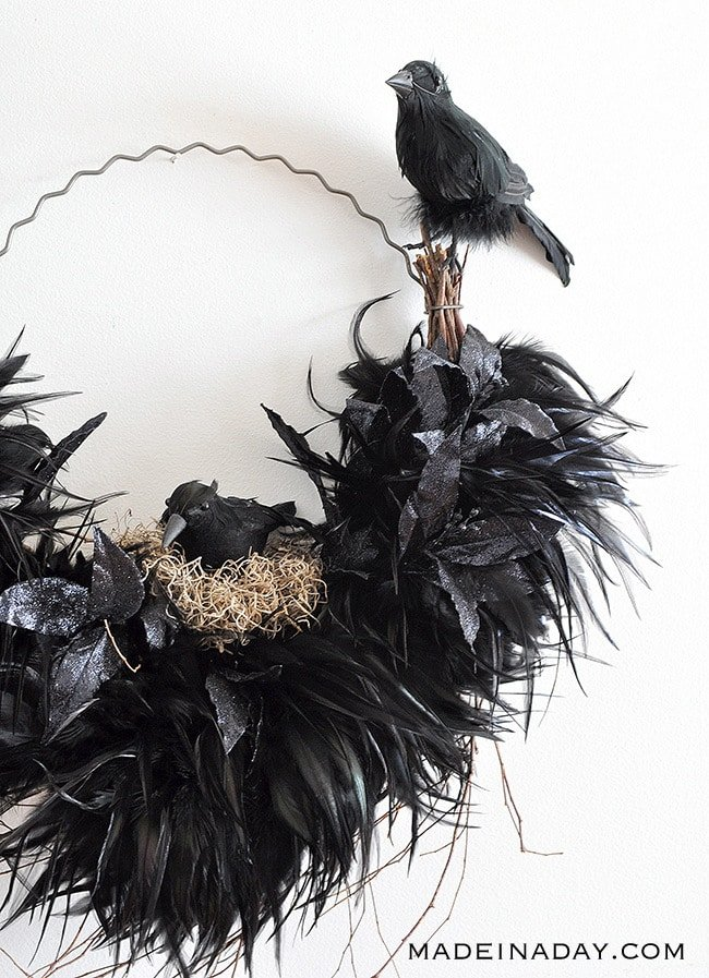 Tantalizing Ravens Nest Halloween Wreath 8
