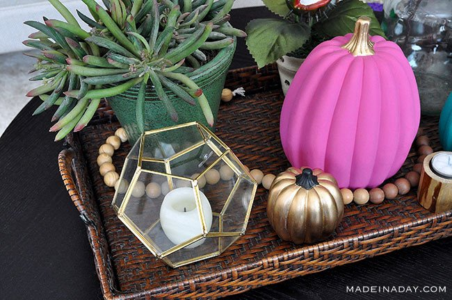 Colorful DIY Boho Chic Painted Pumpkins 3