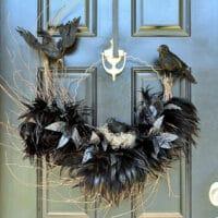 Ravens Nest Halloween Wreath