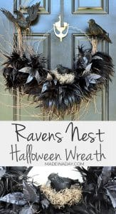 Tantalizing Ravens Nest Halloween Wreath 1
