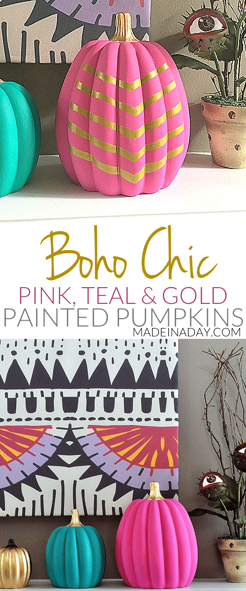 Fun #Boho Chic #Painted #Pumpkins