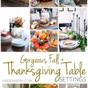 Gorgeous Fall Thanksgiving Table Setting Ideas 1
