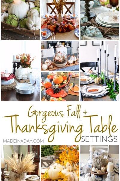 Gorgeous Fall Thanksgiving Table Setting Ideas