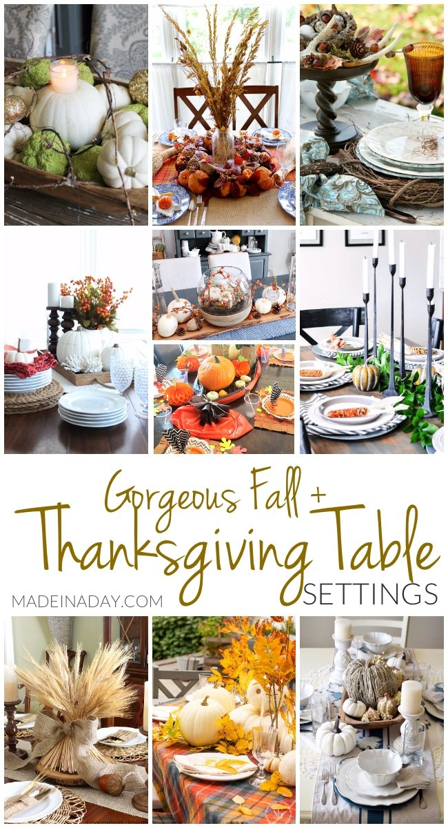 Gorgeous fall thanksgiving table setting ideas made in a day for Gorgeous thanksgiving table settings