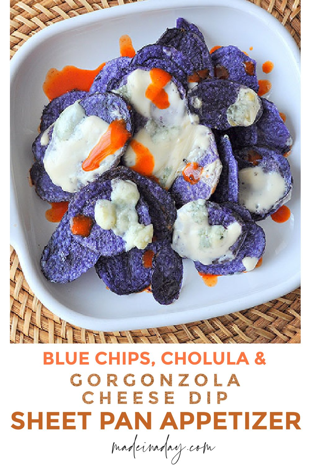 Blue Chips with Gorgonzola Cheese Dip