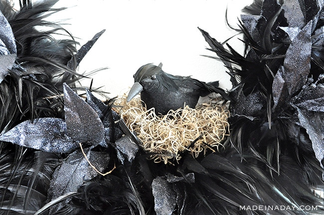 Tantalizing Ravens Nest Halloween Wreath 37