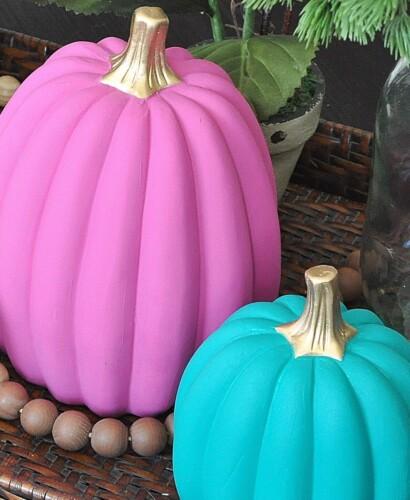 3 Colorful DIY Boho Chic Painted Pumpkins 3